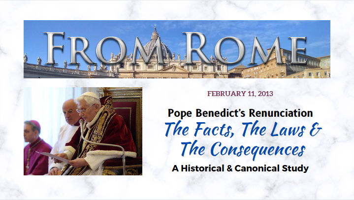 Is Benedict still the Pope? — A Forensic Investigation, Part IV