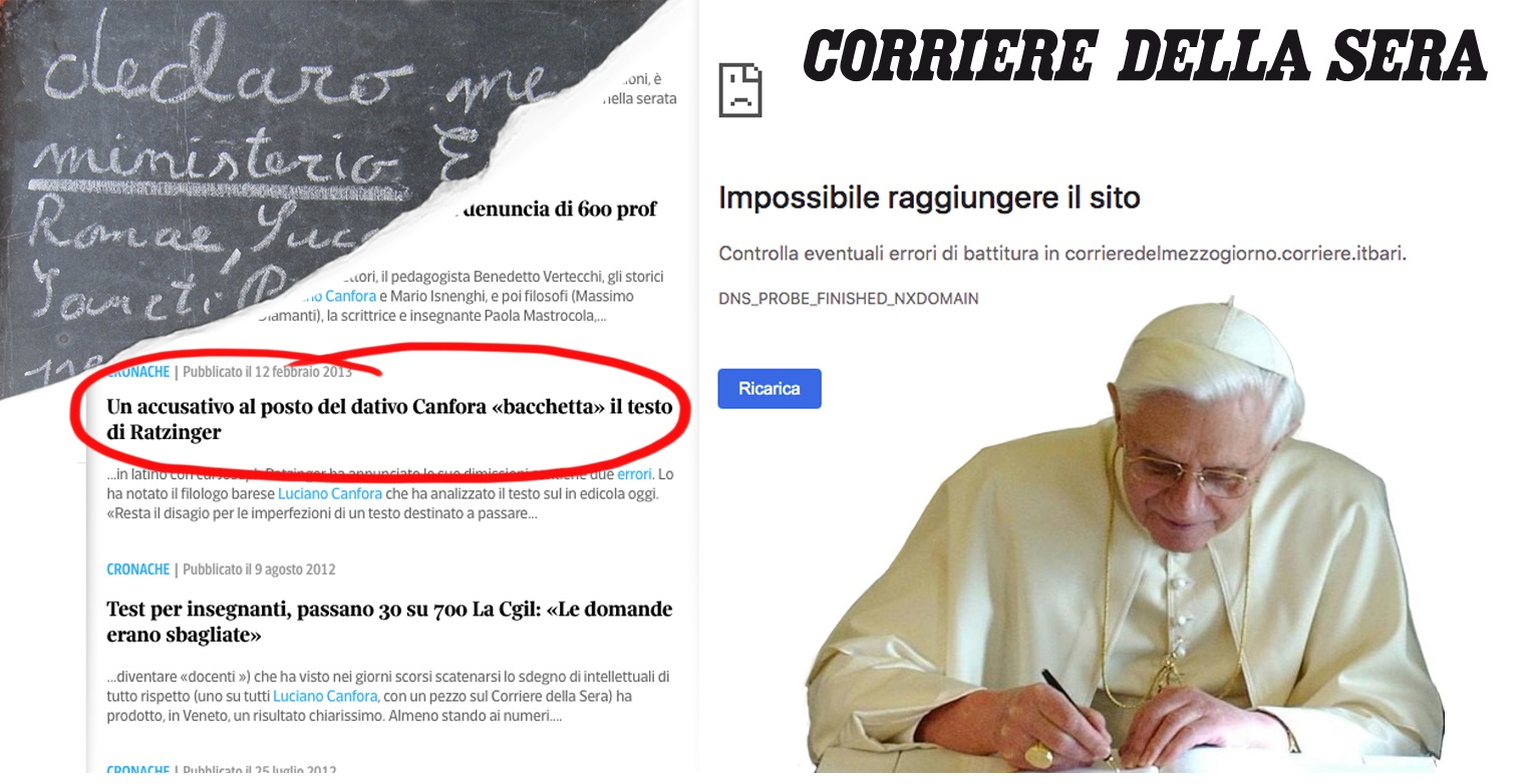 """Those 40 errors, which Benedict XVI says are a """"decorous"""" use of Latin"""