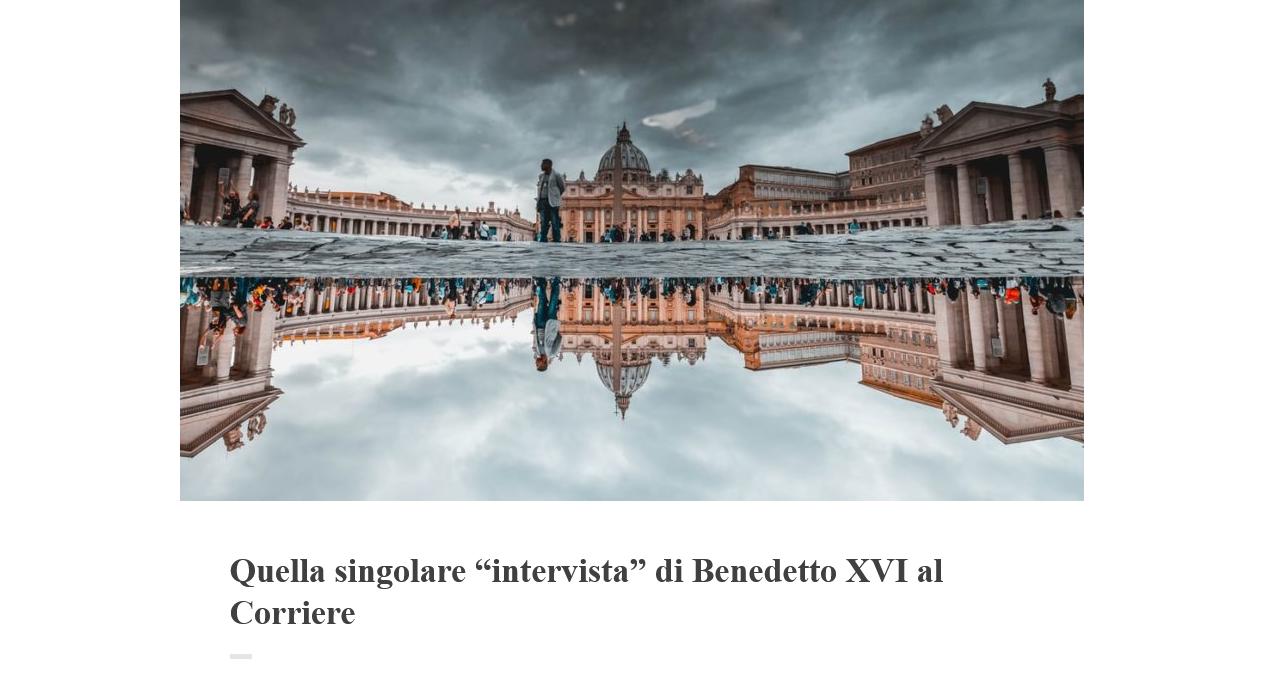 """Aldo Maria Valli eviscerates the Franco-Benedict """"interview"""""""