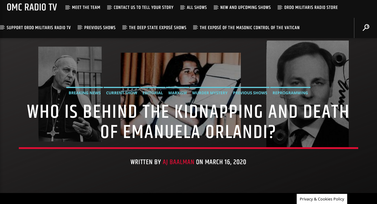 How the Kidnapping of Emanuela Orlandi sheds light on the Pontificate of John Paul II