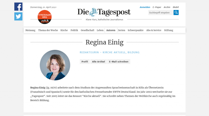 Who is Regina Einig? of the Die Tagespost