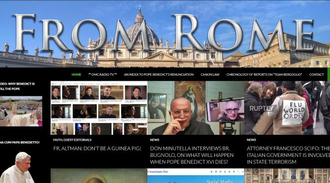 Readers of FromRome.Info intervened in a timely manner to stop massive Cyber Attack