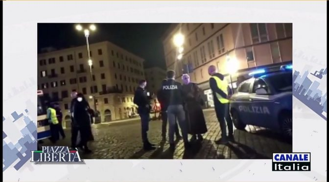 Watch Video of Br. Bugnolo surrounded by Police in Piazza S. Maria Maggiore