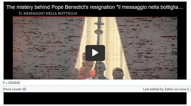 The Mystery behind Pope Benedict XVI's Resignation — A Video Documentary