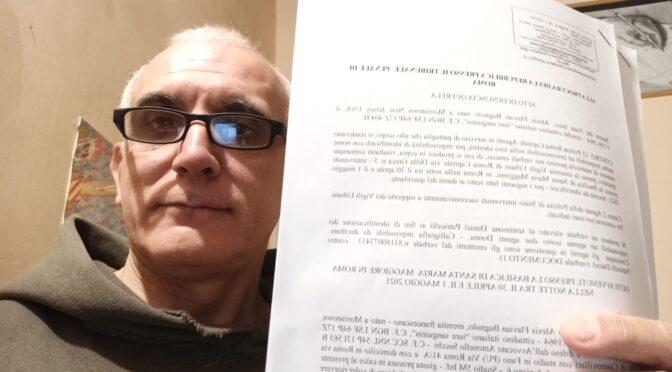 Breaking: Br. Bugnolo denounces 14 Policemen for interrupting the Perpetual Supplica, May 1, 2021
