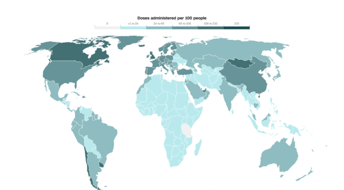 Where in the World are Covid Vaxxes mandatory, currently?