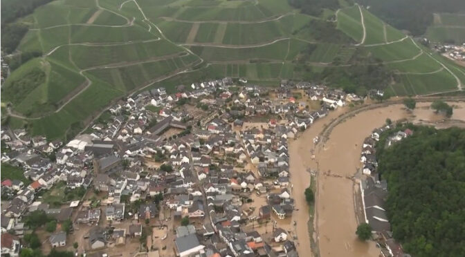 Germany: 93 Killed in Flash Floods, 1000 still missing, Billions in damages