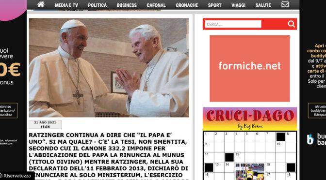"""Debate over Benedict XVI's """"Renunciation"""" floods over into Italian Press"""