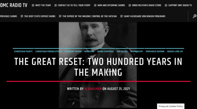 The Great Reset, 200 Years in the Making