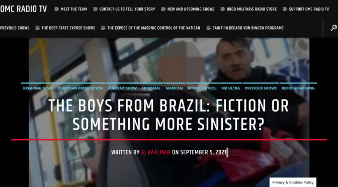 """The Movie """"Boys from Brazil"""": fiction or something more sinister?"""