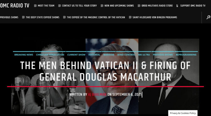 The Skull and Bones Agents who got rid of General MacArthur and requested Vatican II