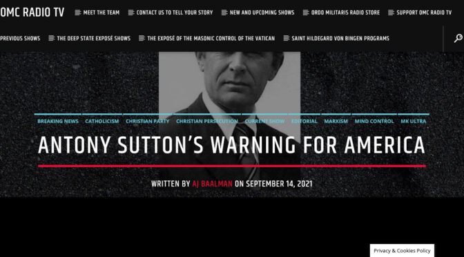 Anthony Sutton's Final Warning to America