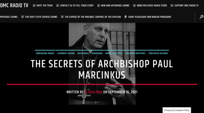 The Secrets of Archbishop Marcinkus, or how Corrupt the Vatican was after 1947