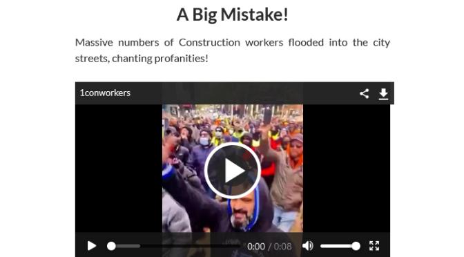 Australia: In Melbourne Construction workers were threatened with the DeathVaxx Passport
