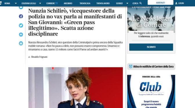 """Vice-Quaestor of Rome: """"The Green Pass is illegitimate"""""""